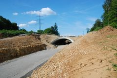 Tunneling and Roadworks - On Site royalty free stock images