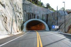 Tunnelljus och signalerande Arkivfoto