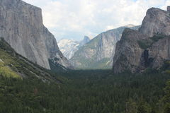 Tunnelmening - het Nationale Park van Yosemite Royalty-vrije Stock Foto