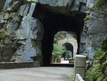 The tunnels. These tunnels were carved out in the 1800's Stock Image