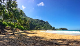 Tunnels Beach Kauai. Tunnels beach on the Hawaiian Island of Kauai Stock Photos