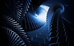 Tunnels bleus d'helice de Ðark Photos libres de droits