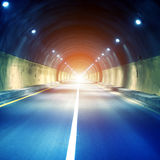 Tunnels and car Royalty Free Stock Photo