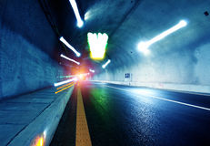 Tunnels and car Royalty Free Stock Photos