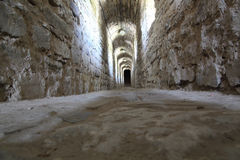 Tunnels in the castle. Stock Photos