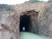 Tunnels de chemin de fer historiques renforcés avec le béton projeté chez le Lake Mead, nanovolt image libre de droits