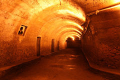 Tunnels dug during World War II Stock Photo