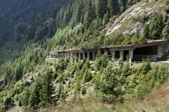 Tunnels on fagaras mountains Stock Photography