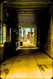 Tunnels. Indiana tunnels bridges city streets Stock Image