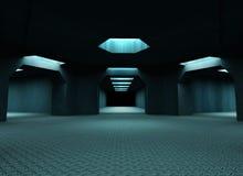 Tunnels mystérieux foncés Image libre de droits