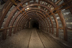 The tunnels in the Owl Mountains - Poland Stock Images