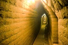 Tunnels under Cholula biggest man made pyramid Stock Photos