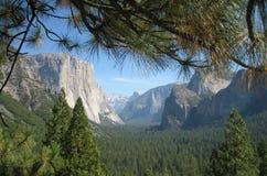 Tunnelsikt, Yosemite nationalpark Fotografering för Bildbyråer
