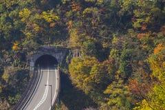Tunnelväg Fotografering för Bildbyråer