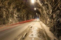 Tunnelväg i Gibraltar Fotografering för Bildbyråer