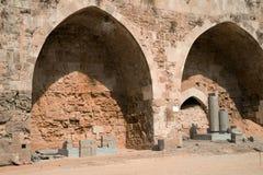 Tunnland Israel - citadell och fängelse Arkivfoton