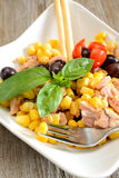 Tunny and corn salad Stock Photo