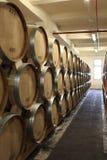 Tuns in winery. The oak tuns in winery, Yerevan, Armenia Royalty Free Stock Photos