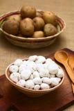 Tunta, βολιβιανό πάγωμα - ξηρά πατάτα Στοκ Εικόνες