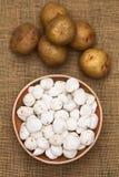 Tunta, Bolivian Dehydrated Potato Stock Photo