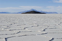 Tunupa salt flats Royalty Free Stock Photo