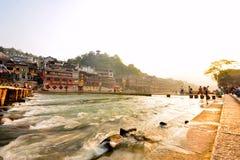 Tuojiang flod Arkivfoto