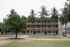Tuol Sleng种族灭绝博物馆在金边 库存图片