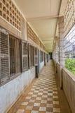 Tuol Sleng种族灭绝博物馆监狱在金边 免版税库存照片