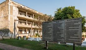 Tuol Sleng/21 folkmord museum, Phnom Penh, Cambodja Royaltyfria Bilder