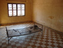 Torture room. Tuol Sleng Genocide Museum Stock Photography