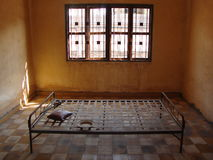 Torture room. Tuol Sleng Genocide Museum Stock Image