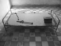 Torture room. Tuol Sleng Genocide Museum Stock Images