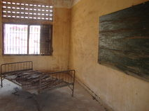 Torture room. Tuol Sleng Genocide Museum Royalty Free Stock Photo