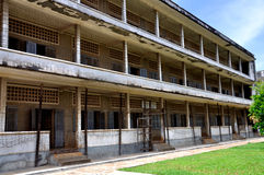 Tuol Sleng Genocide Museum,Phnom Penh, Cambodia. The site is a former high school which was used as the notorious Security Prison 21 (S-21) by the Khmer Rouge Stock Photography