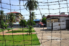 Tuol Sleng Genocide Museum,Phnom Penh, Cambodia. The site is a former high school which was used as the notorious Security Prison 21 (S-21) by the Khmer Rouge Stock Photo