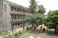 Tuol Sleng Genocide Museum in Phnom Penh. Cambodia Stock Photos