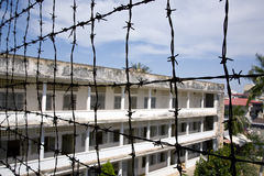 Tuol Sleng Genocide Museum, Phnom Penh. The museum is housed in the former school, which during the reign of the Khmer Rouge from 1975 to 1979 was used as the Royalty Free Stock Photo