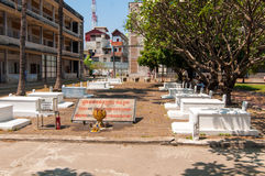 Tuol Sleng graves Royalty Free Stock Photos