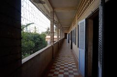 Tuol Sleng ludobójstwa Muzealny widok, Kambodża fotografia stock