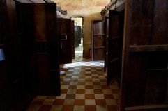 Tuol Sleng ludobójstwa Muzealny widok, Kambodża obraz stock