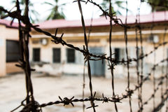 Tuol sleng prisson. In Cambodia Royalty Free Stock Image