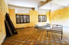 Tuol Sleng (S21) fängelse, Phnom Penh Arkivfoto
