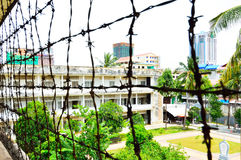 Tuol Sleng (S21) fängelse, Phnom Penh Fotografering för Bildbyråer