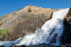 Tuolumne Falls in Yosemite National Park Stock Images