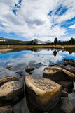 Tuolumne meadows reflection Yosemite  Stock Photography
