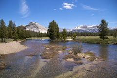 Tuolumne River at Soda Springs, Yosemite NP Royalty Free Stock Images