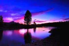 Tuolumne-Wiesen-Sonnenuntergang Lizenzfreie Stockfotos