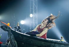Tuomas Holopainen. Nightwish boss and keyboard player in concert Royalty Free Stock Image
