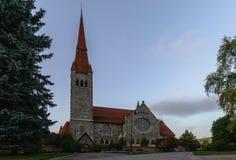 Tuomi kirkko finland tampere Arkivbild