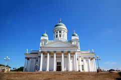Tuomiokirkko Cathedral church in Helsinki Royalty Free Stock Photography